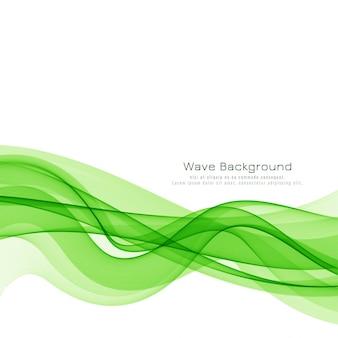 Fundo elegante onda verde
