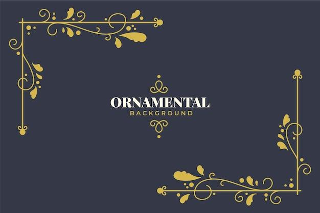 Fundo elegante ornamental