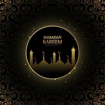 Fundo elegante para cartão de ramadan kareem