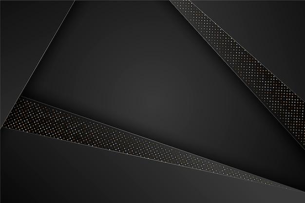 Fundo elegante preto camadas geométricas