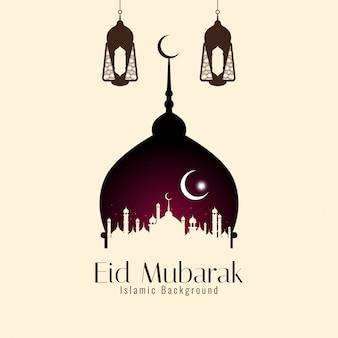 Fundo elegante religioso islâmico de eid mubarak