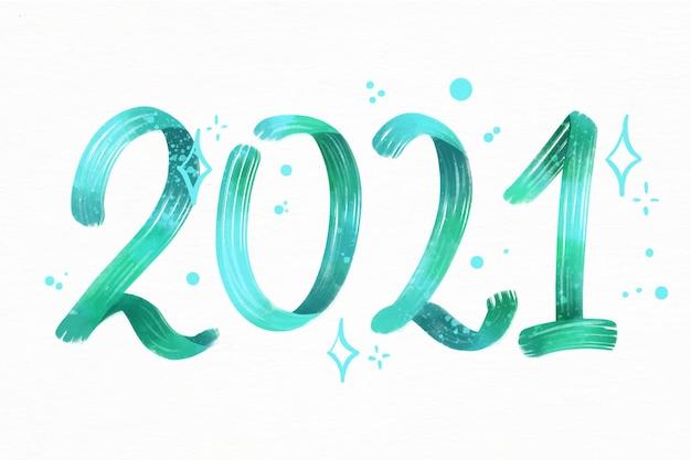 Fundo em aquarela de ano novo 2021