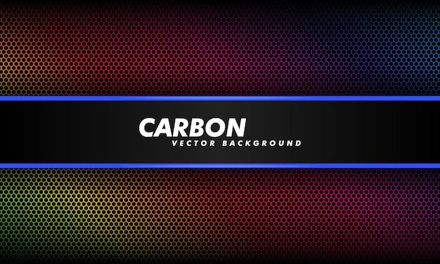 Fundo em gradiente de cor escura e fibra de carbono preta