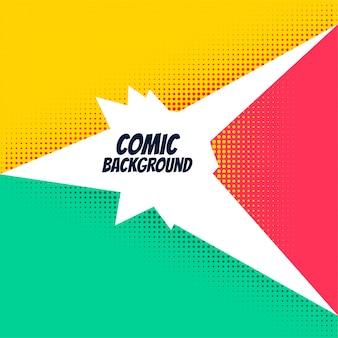 Fundo em quadrinhos com efeito de meio-tom brilhante
