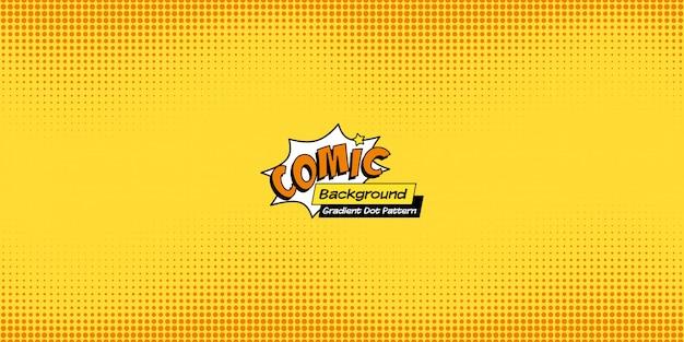 Fundo em quadrinhos retrô