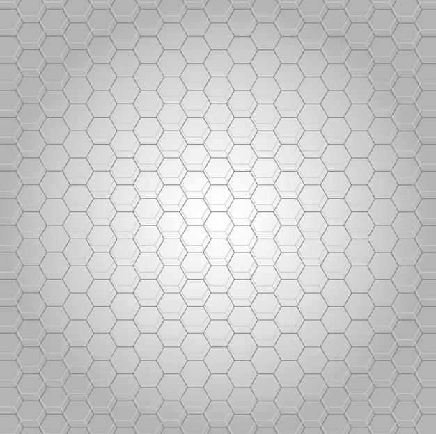 Fundo em tons de cinza com forma de hexágono