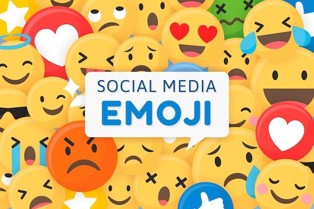 Fundo emoji estampado