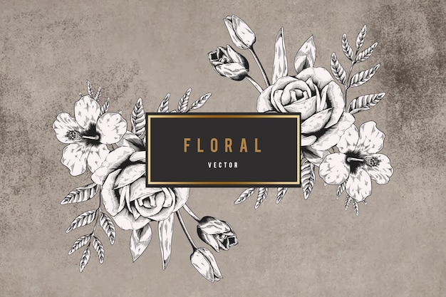 Fundo emoldurado floral