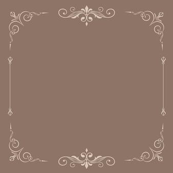 Fundo emoldurado ornamental vintage