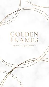 Fundo emoldurado ouro