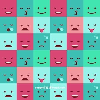 Fundo emoticon quadrado
