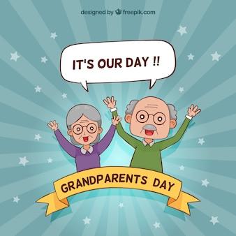 Fundo engraçado do dia dos avós