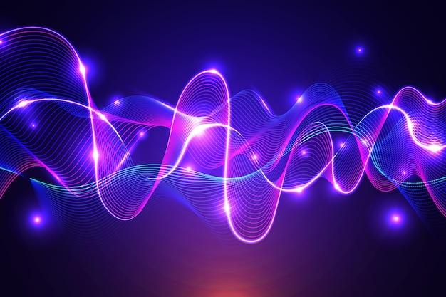 Fundo equalizador onda colorido