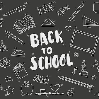 Fundo escolar preto e branco