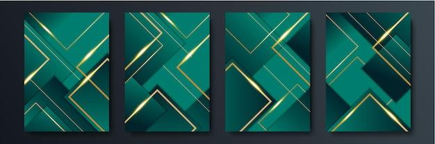 Fundo escuro 3d verde moderno para design de apresentação. projeto de ilustração vetorial para apresentação, banner, capa, web, folheto, cartão, cartaz, papel de parede, textura, slide, revista e powerpoint.