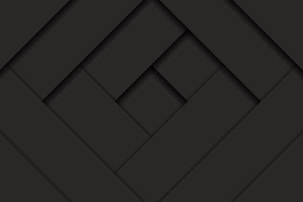 Fundo escuro abstrato com efeito de corte de papel. ilustração vetorial