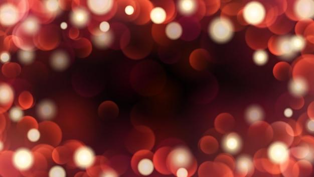 Fundo escuro abstrato com efeitos bokeh em cores vermelhas