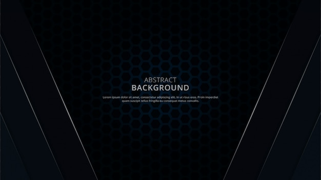 Fundo escuro abstrato com forma geométrica