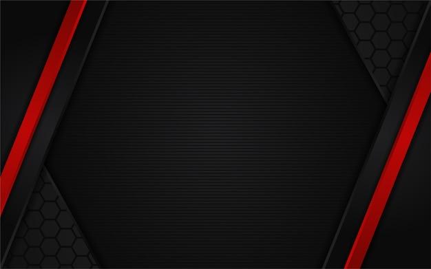 Fundo escuro abstrato com linha vermelha