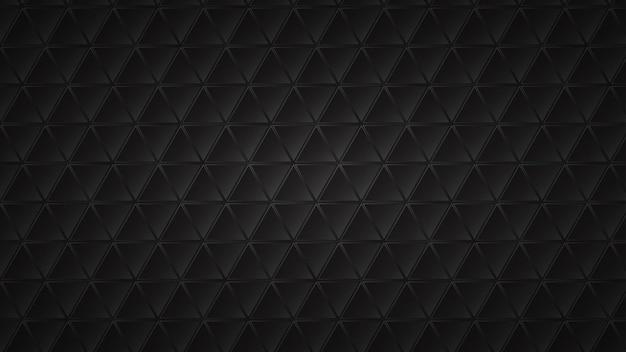 Fundo escuro abstrato de blocos triangulares pretos com lacunas cinza entre eles