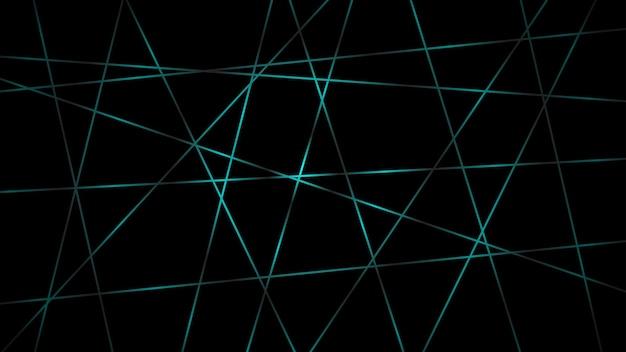Fundo escuro abstrato de linhas que se cruzam em cores azuis claras