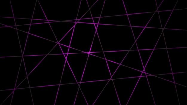 Fundo escuro abstrato de linhas que se cruzam em cores roxas