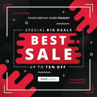 Fundo escuro abstrato de vendas