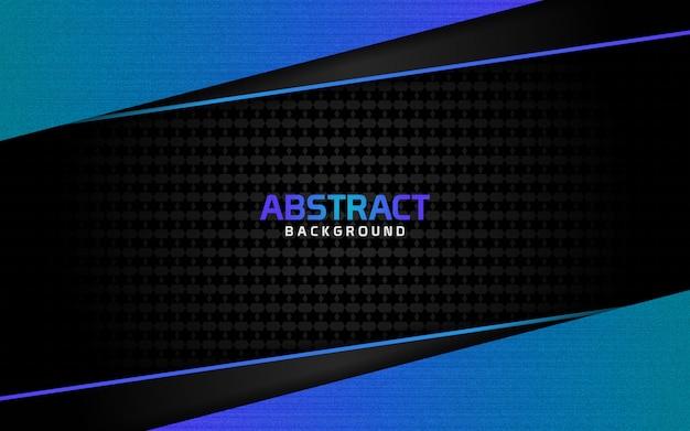 Fundo escuro abstrato e linhas azuis em estilo