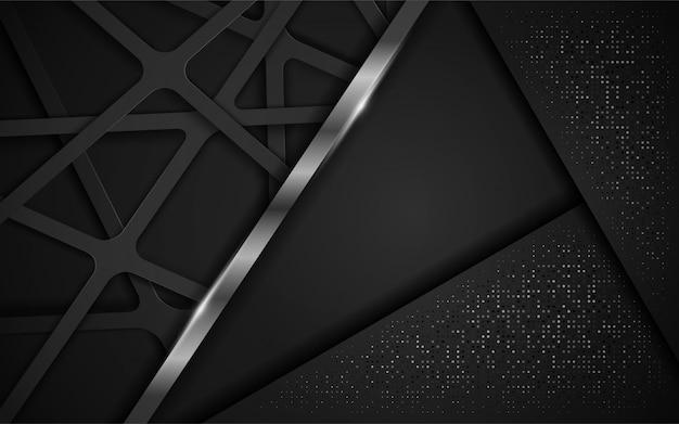 Fundo escuro abstrato moderno.