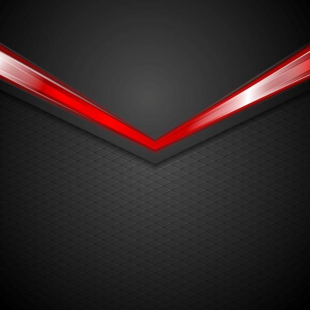 Fundo escuro corporativo com seta vermelha de brilho.