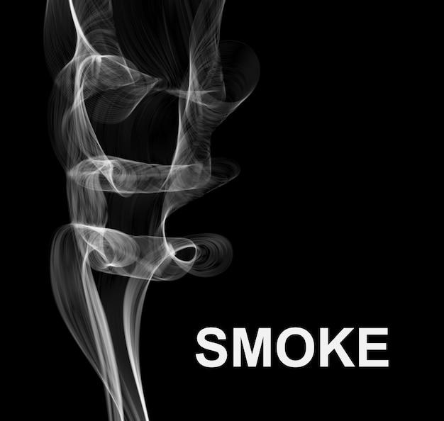 Fundo escuro de fumaça.