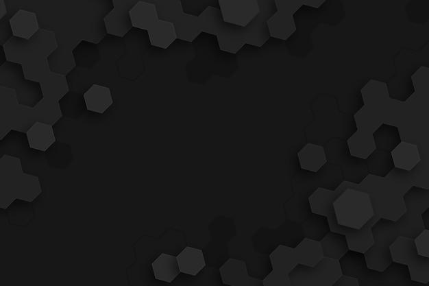 Fundo escuro de hexágonos mínimos