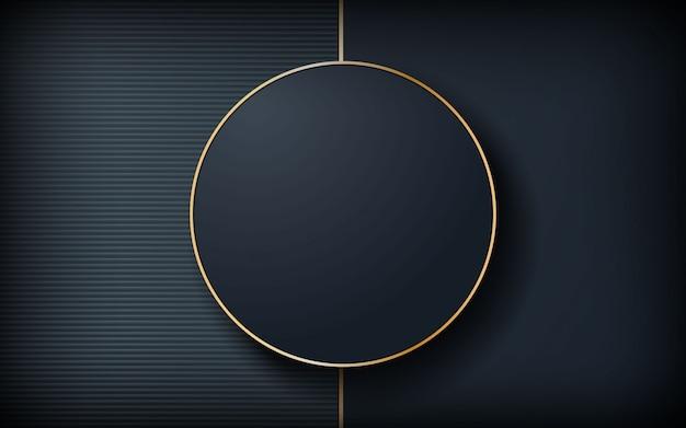 Fundo escuro de luxo com forma de círculo