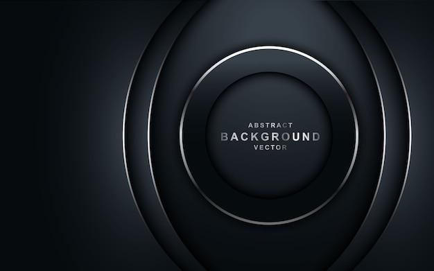 Fundo escuro de luxo com forma de círculo.