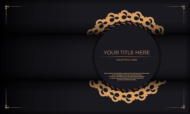Fundo escuro de luxo com ornamento abstrato. elementos elegantes e clássicos prontos para impressão e tipografia.