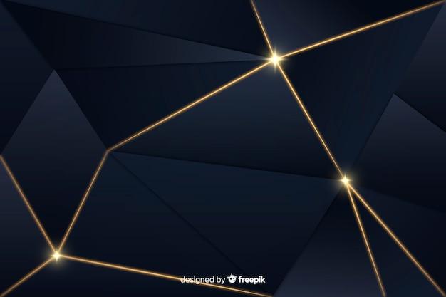 Fundo escuro de luxo poligonal