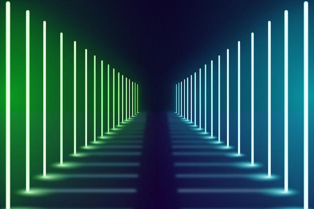Fundo escuro de luzes de néon