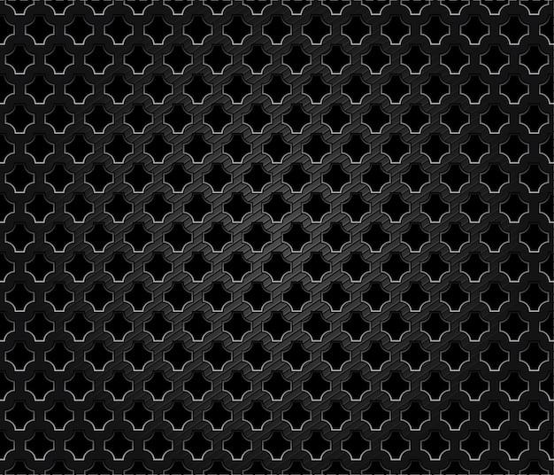Fundo escuro de metal perfurado abstrato