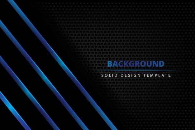 Fundo escuro de metal sólido azul