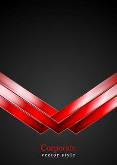 Fundo escuro de tecnologia com setas vermelhas. ilustração vetorial