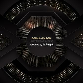 Fundo escuro e dourado
