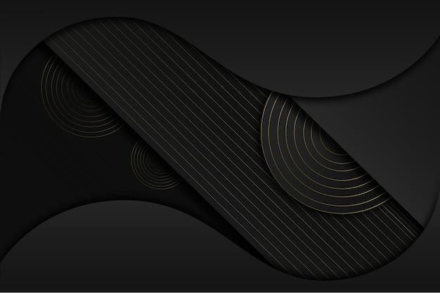 Fundo escuro elegante com conceito de detalhes dourados