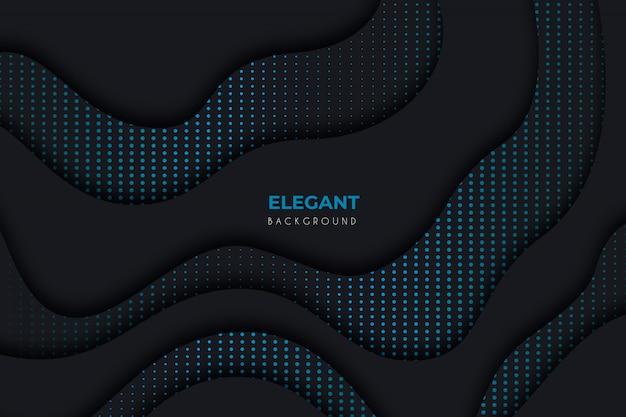 Fundo escuro elegante com detalhes azuis