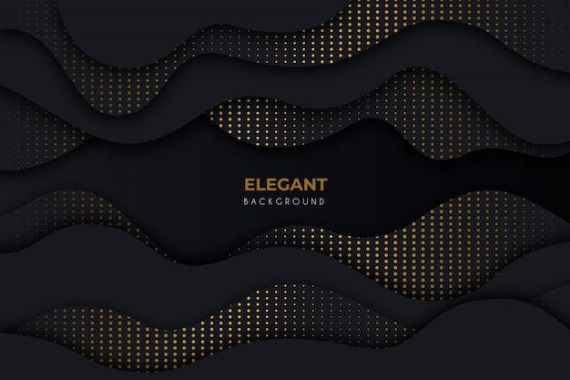 Fundo escuro elegante com detalhes dourados