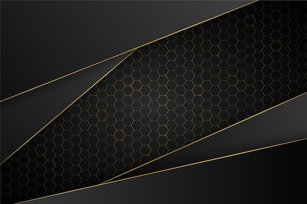 Fundo escuro elegante com detalhes em ouro