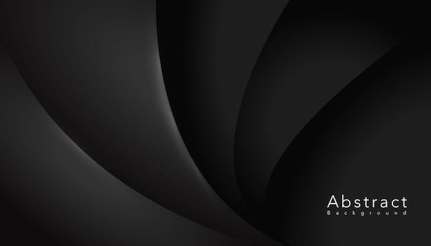 Fundo escuro elegante forma ondulada