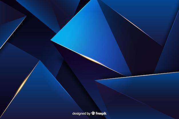 Fundo escuro escuro poligonal