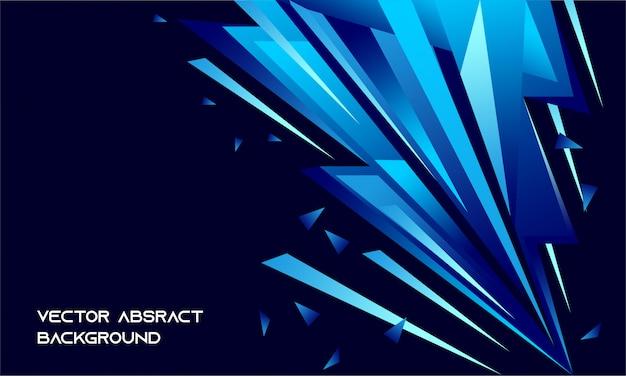 Fundo escuro frio abstrato com peças azuis Vetor Premium