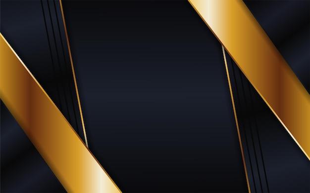 Fundo escuro futurista abstrato combinado com elemento dourado