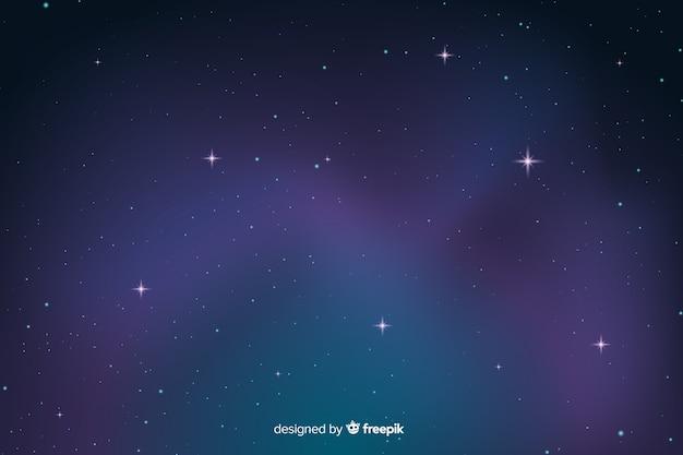 Fundo escuro gradiente noite estrelada